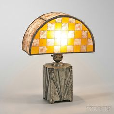 Art Deco Table Lamp with Handel Shade. | Auction 2912M | Lot 184 | Sold for $615