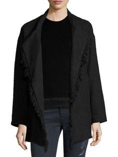 Cauley Fringe Trimmed Wrap Jacket by Iro at Gilt