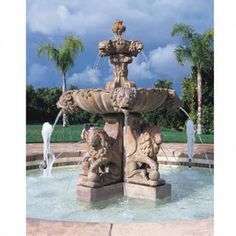 An outdoor water fountain is a great complement to your garden or other outdoor space. Not only are water fountains […] Large Outdoor Fountains, Small Fountains, Stone Fountains, Garden Fountains, Water Fountains, Fountain Garden, Garden Water, Large Water Features, Diy Water Fountain