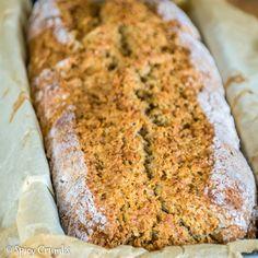 Irský chléb – Irish Soda Bread - Spicy Crumbs Soda Bread, Banana Bread, Spicy, Desserts, Food, Tailgate Desserts, Deserts, Essen, Postres