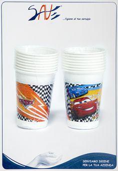 Bicchieri di plastica per feste a tema Cars