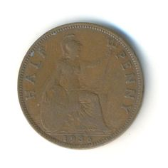 Vintage Coin George V Half Penny 1936 Code: by JMCVintagecards Penny Coin, Coins For Sale, Coding, Stock Photos, Personalized Items, Etsy, Vintage, History, Historia