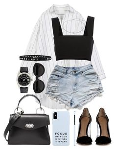 """""""Untitled #390"""" by naomiariel ❤ liked on Polyvore featuring Gianvito Rossi, Proenza Schouler, Yves Saint Laurent, Rolex, Carla Zampatti, Napier and Isabel Marant"""