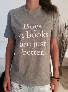 Welcome to Nalla shop :) For sale we have these great Boys in books are just better t-shirts! With a large range of colors and sizes - just select