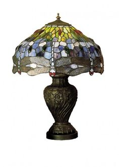 Tiffany Hanginghead Dragonfly Table Lamp ______________________________ Disclaimer: This image will take you to SuitableLamps.com where you can browse our products and purchase if you'd like. Pricing, availability and promotions subject to change without notice.