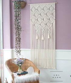 ] Work of Macrame Design, Macrame Art, Macrame Projects, Macrame Knots, Macrame Wall Hanging Patterns, Macrame Plant Hangers, Free Macrame Patterns, Macrame Curtain, Crochet Decoration