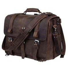 Cheap crossbody bag, Buy Quality bags handbags directly from China crazy horse leather Suppliers: TIDING Luxury Genuine Crazy Horse Leather Men Multi-function Shoulder Bag Handbag Cow Leather Laptop Crossbody Bag 2017 Briefcase For Men, Leather Briefcase, Messenger Bag Backpack, Metal Buckles, Laptop Bag, 17 Laptop, Large Bags, Cow Leather, Satchel