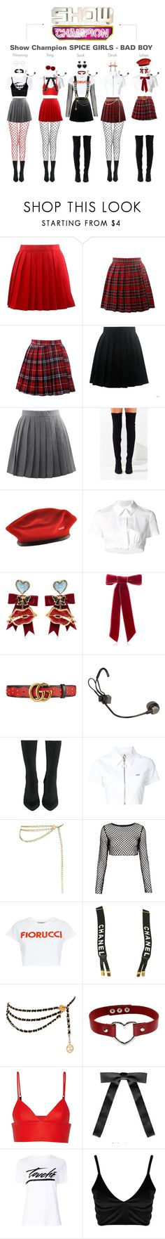 """Show Champion SPICE GIRLS - BAD BOY"" by spicegirls-official ❤ liked on Polyvore featuring Jeffrey Campbell, kangol, Monse, Dsquared2, Jennifer Behr, Gucci, UNIF, Chanel, Motel and Fiorucci"