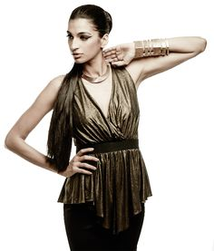 Metallic gold and black peplum dress by Carousel. Shop now: www.perniaspopupshop.com. #dress #chic #shopnow #perniaspopupshop #happyshopping