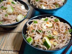 Cold Soba  Cucumber Salad ****