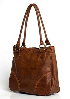 AMICA. Leather shoulder bag / Vintage style bag / by BaliELF