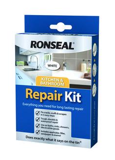 Ronseal Kitchen & Bathroom Repair Kit - Lavuaarin ja ammeenpaikkaussetti emalille