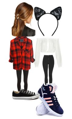 """""""Untitled #7886"""" by lover5sos ❤ liked on Polyvore featuring Elizabeth and James, Topshop, adidas, Splendid, Maison Close, Rails, Converse, Rosantica, women's clothing and women"""
