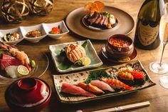 """""""寿司×シャンパンを楽しむ、優雅なクリスマスディナーはいかが?SUSHI権八 西麻布では、クリスマス限定のディナーコースのご予約を承り中です。 新鮮な季節の魚介をふんだんに使用したペアコース2種をご用意しております。 今年のクリスマスは、大切な人と一緒においしいお寿司とお酒に舌鼓を。ワンランク上の贅沢な大人のクリスマスを楽しむなら、SUSHI権八 西麻布へ。"""" Dining, Ethnic Recipes, Food, Essen, Meals, Yemek, Eten"""