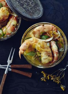 Heritage recipe: Pickled Shrimp with Cilantro and Fennel Seafood Dishes, Fish And Seafood, Pickled Shrimp Recipe, Fennel Recipes, Heritage Recipe, Kitchen Confidential, Low Sodium Recipes, Shrimp Salad, Exotic Food