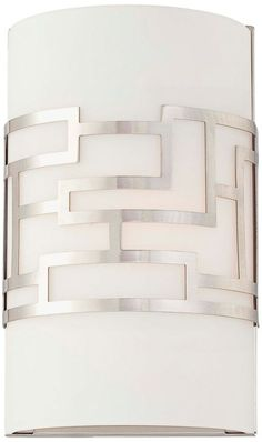 Buy the Kovacs Brushed Nickel Direct. Shop for the Kovacs Brushed Nickel 1 Light ADA Compliant Flush Mount Wall Sconce from the Alecia's Necklace Collection and save. Contemporary Wall Sconces, Modern Wall Sconces, Wall Sconce Lighting, Bathroom Lighting, Bathroom Sconces, Bathrooms, Hallway Sconces, Hallway Lighting, Shop Lighting