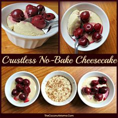 Crustless No-Bake Cheesecake // 2 tsp gelatin  1/3 C granulated sugar equivalent 1 C water  1 tsp vanilla  16 oz cream cheese, room temperature