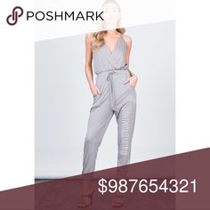 ⭐️🆕⭐️Relaxed Fit Jumpsuit SAND WASHED SURPLICE JUMPSUIT. Features soft material, plunging neck line and pockets!   RELAX FIT   71%RAYON 29%POLYESTER Mocha Pants Jumpsuits & Rompers