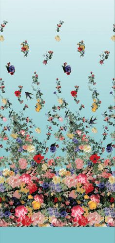Designers Guild fabric| I'd love this to be on an accent wall in a bedroom or dining room!