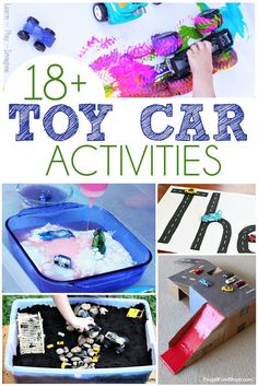 18+ Toy Car Activities - A ton of fun activities using our favorite toy cars! Includes painting, monster truck demolitions, letter and color recognition.