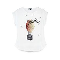 T-shirt Oficial Expensive Soul brancaModelo femininoJersey de algodão em 160gCor brancoEstampa em quadricromia