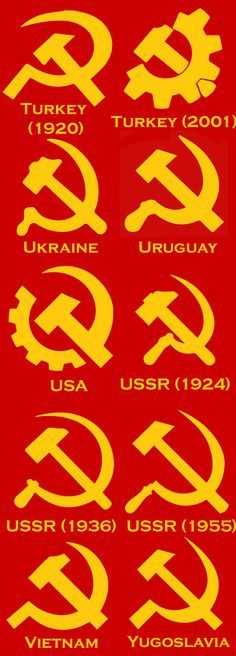 10 variations of sickle and hammer Communist Propaganda, Propaganda Art, Cover Design, Hammer And Sickle, Alice And Wonderland Quotes, Socialist Realism, Russian Revolution, Communism, Anti Capitalism