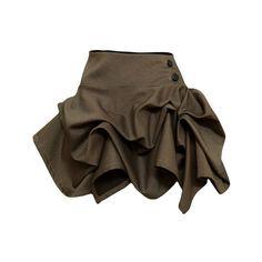 Holly Gold Denim Shorthitch Skirt (700 SEK) found on Polyvore