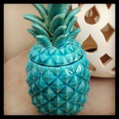 Turquoise Sunburst Pineapple Cannister  http://www.abodeaustralia.com/collections/the-establishment/products/sunburst-summer-3