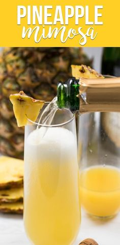 Pineapple Mimosas are the BEST KIND! Forget the OJ and add pineapple juice to c… Pineapple Mimosas are the BEST KIND! Forget the OJ and add pineapple juice to champagne for your next brunch. via Crazy for Crust Summer Drinks, Cocktail Drinks, Fun Drinks, Brunch Drinks, Party Drinks, Mimosa Party, Juice Drinks, Refreshing Cocktails, Alcoholic Beverages