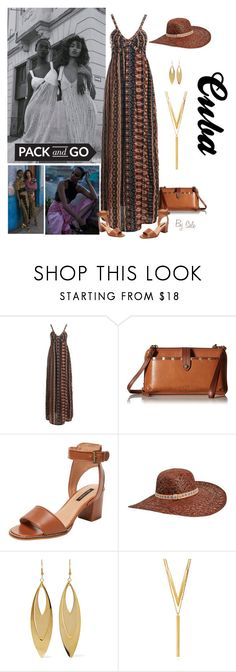 """""""Pack and Go: Cuba! - Cuba Style"""" by selene-cinzia ❤ liked on Polyvore featuring Sans Souci, The Sak, Ava & Aiden, Karen Kane, Kenneth Jay Lane, BERRICLE and Packandgo"""