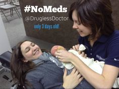 Only three days old, and receiving their first chiropractic adjustment! #NoMeds #chiropractic #Cleveland #health