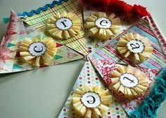 Banner Garland with Rosettes or Rosette and Pendants by PartyFetti. $39.99, via Etsy.