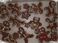"Zombie Christmas cookies. To be eaten while enjoying that heartwarming Christmas carol ""Jingle Brains."""
