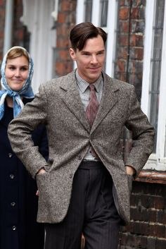 Benedict Cumberbatch filming 'The Imitation Game', 18-09-2013