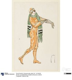Coloured lithograph from a serie of six postcards, by Ernst Deutsch, 1912-1913. Courtesy Dietmar Katz, Kunstbibliothek, Staatliche Museen zu Berlin CC-BY-NC-SA