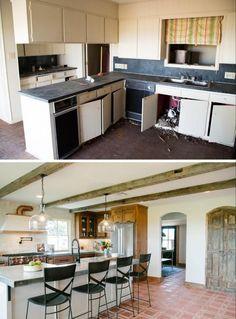 custom alder kitchen and paint grade island