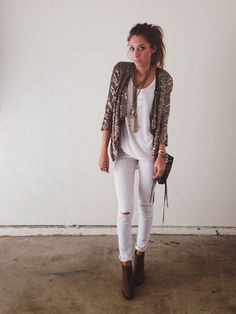All white + sequins