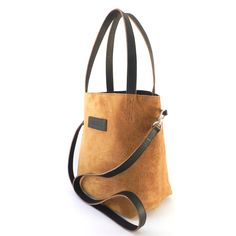 Suede and Leather Tote - Genuine Lama Leather - Crossbody Bag Handmade in Bolivia - Shoulder Bag by LAMAGLAMA on Etsy https://www.etsy.com/listing/164528740/suede-and-leather-tote-genuine-lama