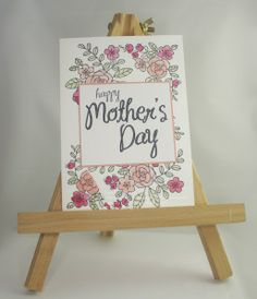 Mother's Day Card.  Sam's Crafty Things - Sam Johnson, Stampin' Up! UK Independent Demonstrator