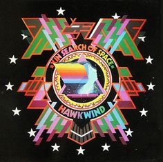 Barney Bubbles sleeve for Hawkwind's second LP 'In Search of Space', 1971
