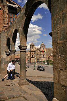 The Church of La Compañia, Plaza de Armas, Cusco, Peru
