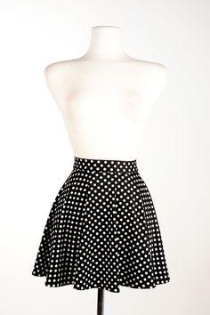 Swim Skirt in Black Polka Dot - Pinup Girl
