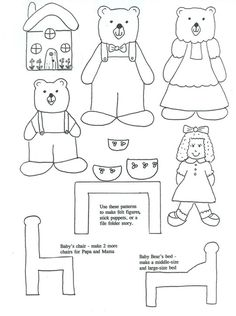 Goldilocks coloring page of the three bears leaving the