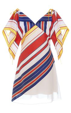 Alexis Mabille - Striped Handkerchief Dress