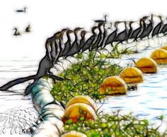 Cormorants Creative Artwork, Landscape Photographers, Wildlife, Board, Creative Art