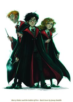 Harry Potter and the Goblet of Fire -- The publishing company had artist Jonny Duddle design brand new covers for all seven books. Each back cover will feature a different character or scene that was pivotal or important to the overall plot of the respective book.