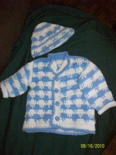 crochet for baby boy. Free pattern leaflet @ Hobby Lobby--I doubt Hobby Lobby still has this from 2010.