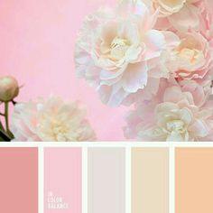 beige, brown and pink, cream, gentle colors for a wedding, gentle palette for a… Colour Pallette, Color Palate, Colour Schemes, Color Combos, Color Patterns, Pink Palette, Pantone, Design Seeds, Color Concept