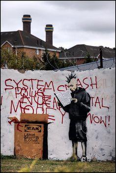 Banksy - Ikea graffiti - Large Graffiti Slogan, Croydon., South London   copyright artofthestate 2009 / 2011