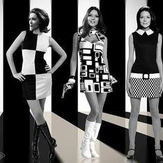 Retro Fashion Diana Rigg - Three of my Emma Peel creations - Emma Peel, Vintage Chic, Mode Vintage, Looks Vintage, Style Année 60, Looks Style, Mode Style, 60s And 70s Fashion, Retro Fashion